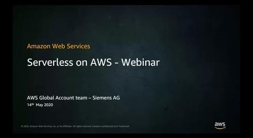 Serverless on AWS - Webinar