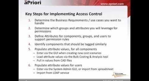 Implementing Access Control in aPriori