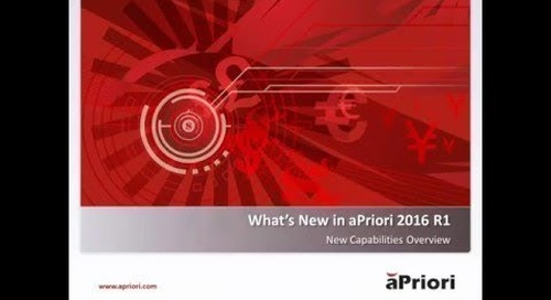 What's New in aPriori 2016 R1