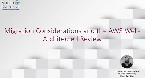 Migration Considerations and the AWS Well-Architected Review -  Final Cut