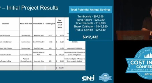 CNH Identified $312k In Potential Annual Savings In First Two Months of Using aPriori