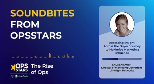 Soundbites from OpsStars | Accessing Insight Across the Buyer Journey