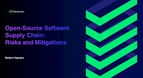 Webinar: Open-Source Software Supply Chain Risks and Mitigations