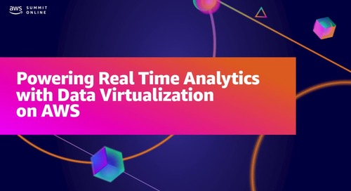Powering real time analytics with data virtualization on AWS