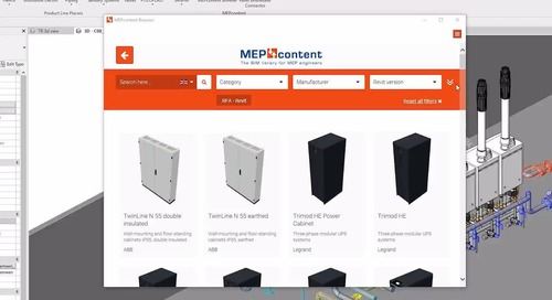 MC Browser - Worldwide uniform BIM library for MEP engineers