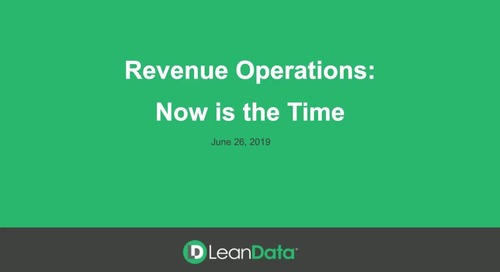 Revenue Operations: Now is the Time