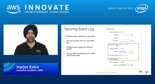 Secure and analyze your operational and log data - AWS Innovate