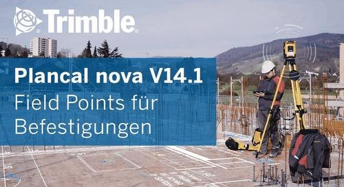 Plancal Nova 14.1 und automatische Field Points für Befestigungen