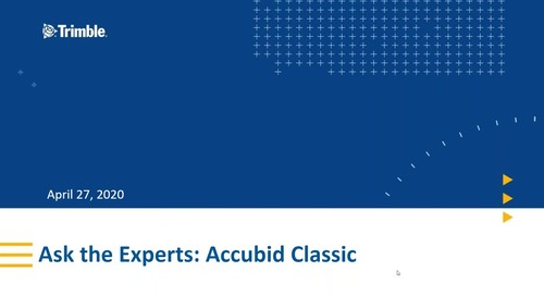 Ask The Experts: Accubid Classic