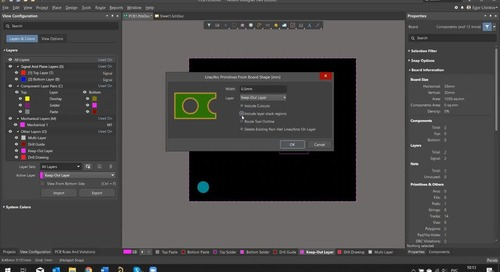 Вебинар Создание и редактирование контура печатной платы в Altium Designer