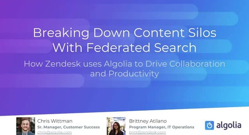 Breaking down content silos with federated search