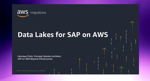 Enabling Data-Driven Enterprises with Data Lakes for SAP on AWS [Level 300]