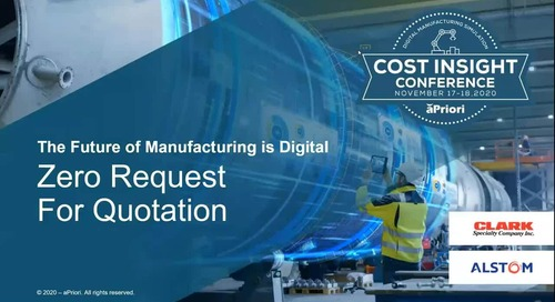 Zero Request for Quotation: a webinar with both manufacturer and supplier | Cost Insight Conference