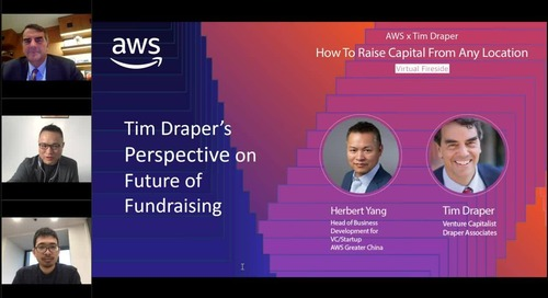 AWS x Tim Draper – How To Raise Capital From Any Location (英文)