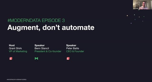 #ModernData Series with Mode | Augment, Don't Automate