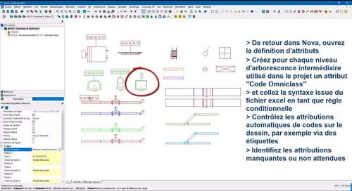 Novatip 42 - Gestion des codes Omniclass / Uniformat via les attributs libres