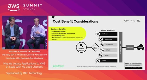Migrate legacy applications to AWS at scale with no code changes (Sponsored by DXC)