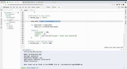 Getting started with serverless applications Demo 2