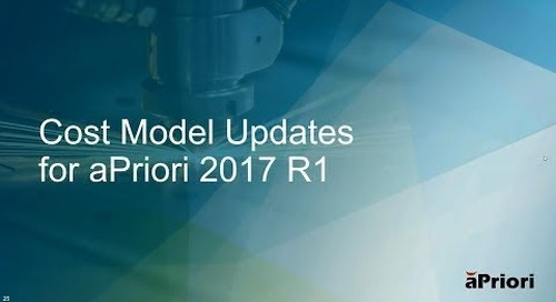 aPriori User Council Briefing: What s New in aPriori 2017 R1