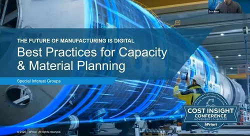 Best Practice for Getting Started with aPriori in Capacity Planning