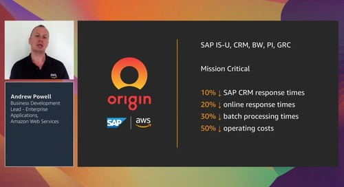 SAP on AWS: Unlocking value from your investment (Level 200)