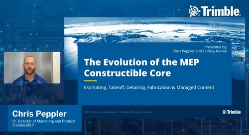 [Trimble MEP Special Event] The Evolution of the MEP Constructible Core