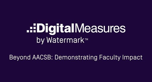 Beyond AACSB: Demonstrating Faculty Impact