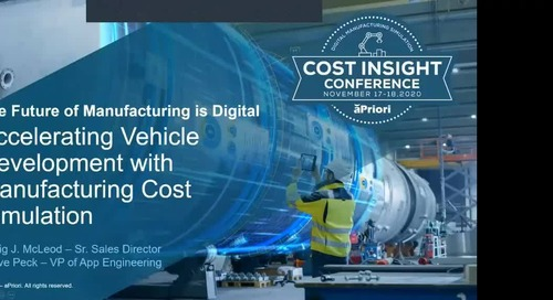 Automotive Manufacturers: Accelerating Vehicle Development with Manufacturing Cost Simulation