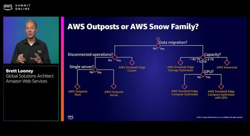 Extend the power of AWS to where you are with hybrid cloud services