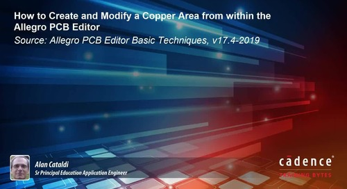 How to Create and Modify a Copper Area within the Allegro PCB Editor