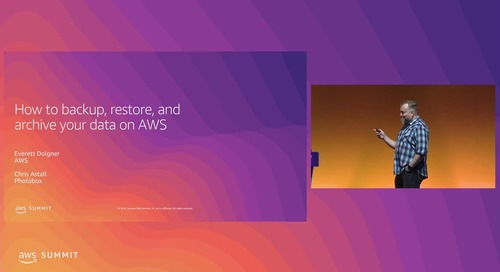 How to Backup, Restore & Archive Your Data on AWS