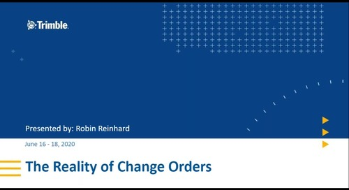 Session 1 - The Reality of Change Orders for Electrical Contractors