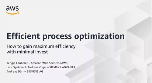 Efficient Process Optimization with Siemens Advanta – How to Gain Maximum Efficiency with Minimal In