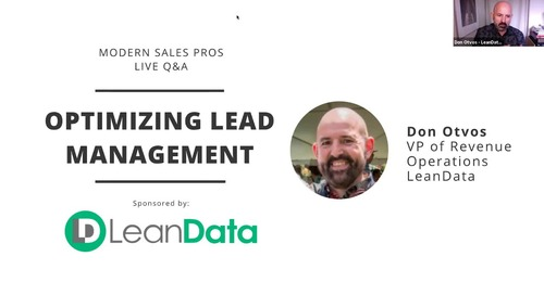 Live Q&A with Don Otvos: Optimizing Lead Management