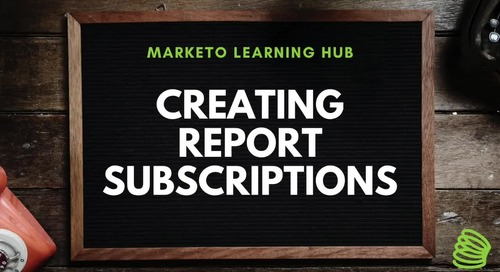 Creating Report Subscriptions