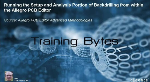 Running the Setup and Analysis portion of Backdrilling from within the Allegro PCB Editor