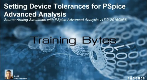 Setting Device Tolerances for PSpice Advanced Analysis