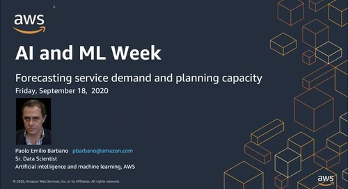 AIML Week: ML for forecasting service demand and planning capacity