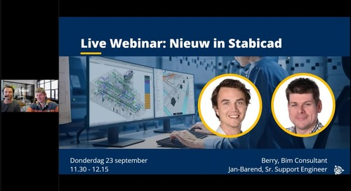 [On Demand] Webinar Wat is nieuw in Stabicad? 23/09