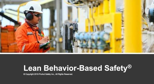 Webinar: Lean Behavior Based Safety