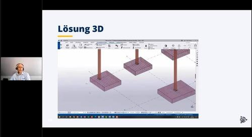 3D-Gründungen und Fundamente zuverlässig voll detailliert planen