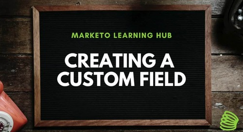 Creating a Custom Field
