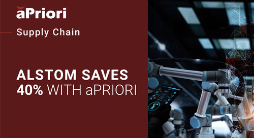 "Alstom Key User Describes Their 2-Step ""Zero RFQ"" Process Using aPriori"