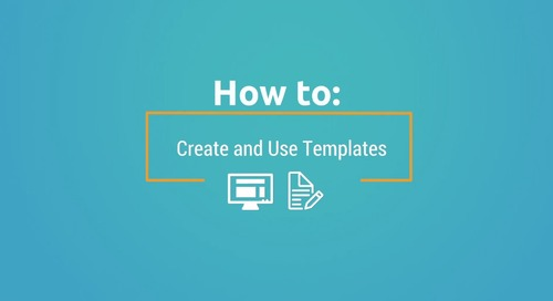Demo: How to Create and Use Templates
