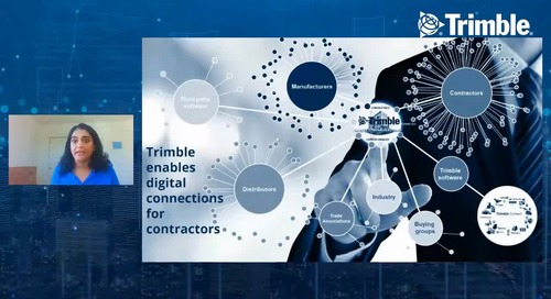 [Trimble MEP Special Event] The New Frontier of Supply Chain and Analytics in Construction