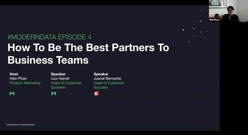 #ModernData Series with Mode   How to be the best partners for business teams