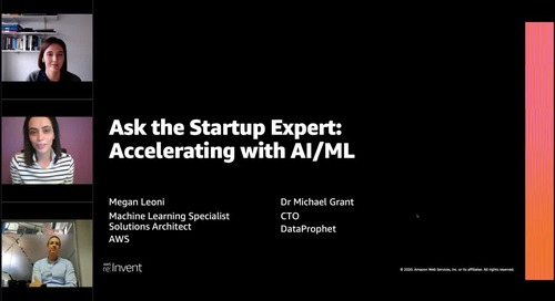 Ask the Startup Expert: Accelerating with AI/ML