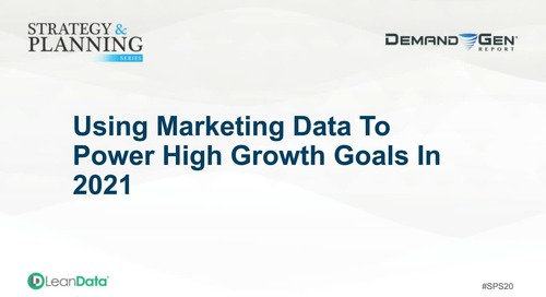 Using Marketing Data To Power High Growth
