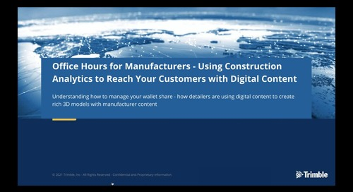 [On-Demand] Session 3: Using Construction Analytics: How Detailers are Using Your Digital Content
