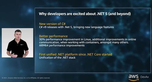 Embracing change with dotnet on AWS - keynote - Adam Larter